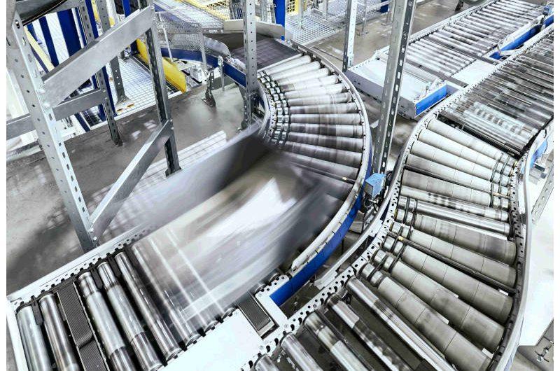 Automatyka przemysłowa - Linia technologiczna grafika